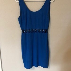 Blue dress with cut out